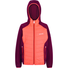 Regatta Kielder Hybrid IV Quilted Jacket Kids, fiery coral/beetroot/beetroot